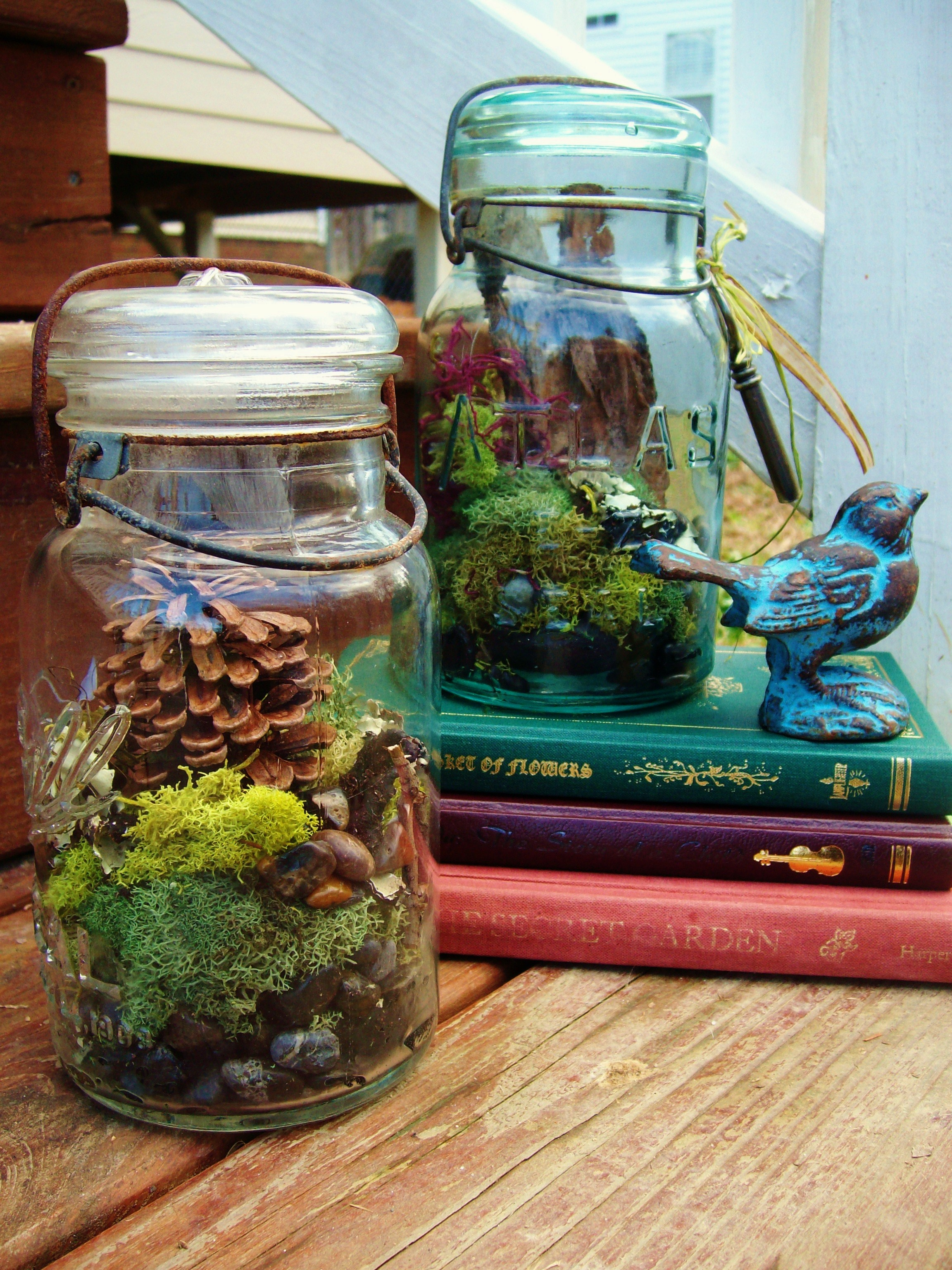 how to make mason jar terrariums diy tutorial the free folk. Black Bedroom Furniture Sets. Home Design Ideas
