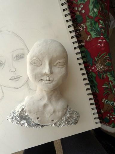 Initial sculpt of September's head