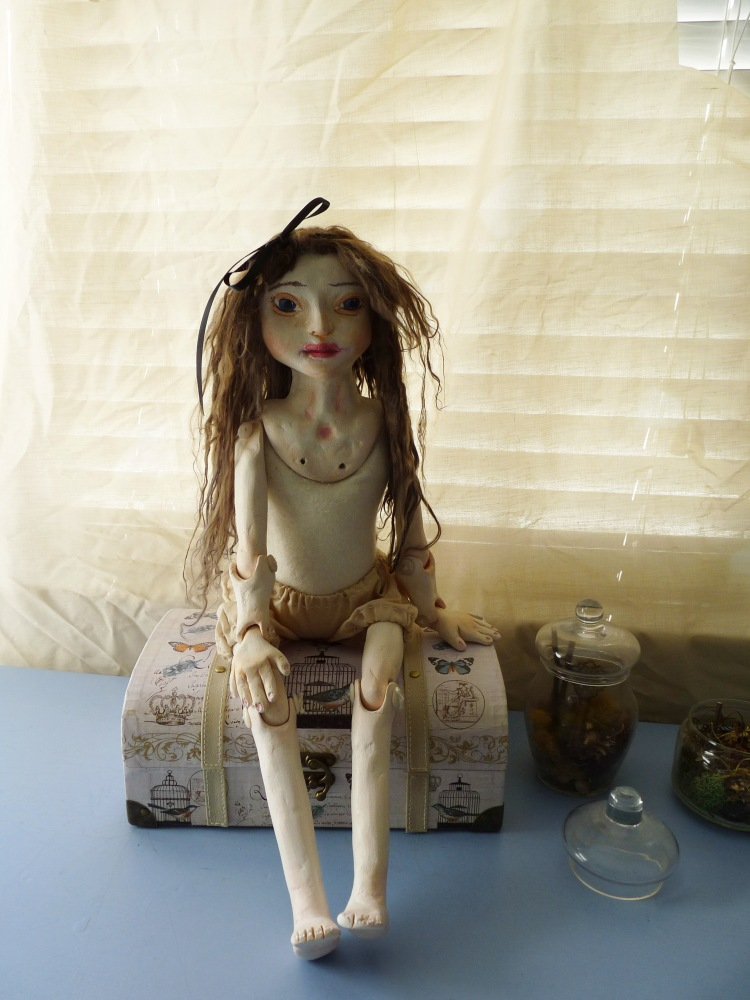 jointed paperclay art doll