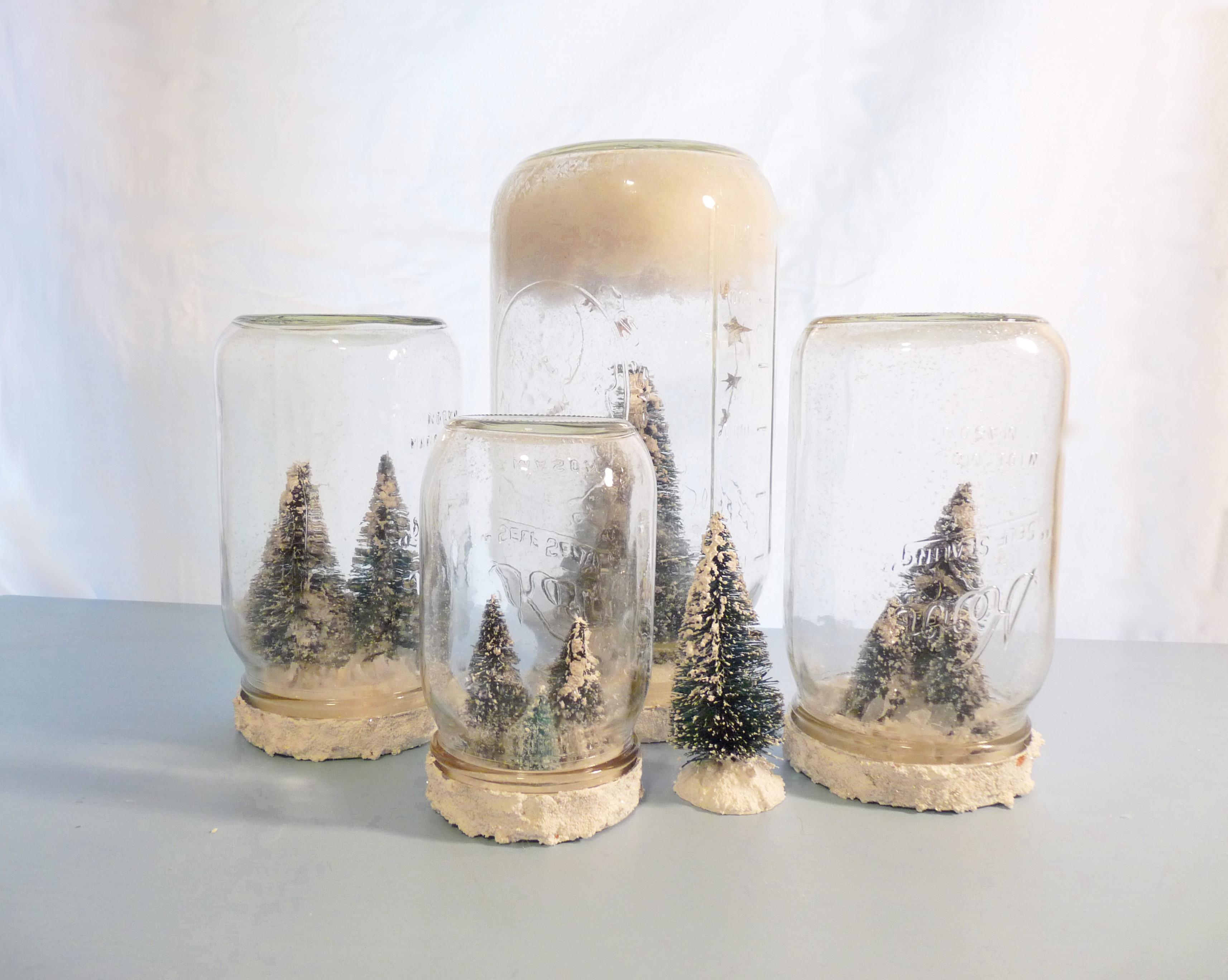 Diy christmas craft make your own mason jar snow globes the free