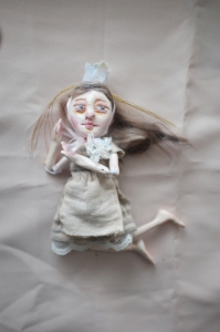 miniature fairy tale doll in jointed paperclay