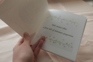 illustrated fairy tale book with vines and flowers
