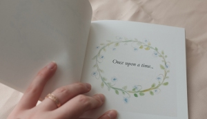 once upon a time illustration in fairy tale book
