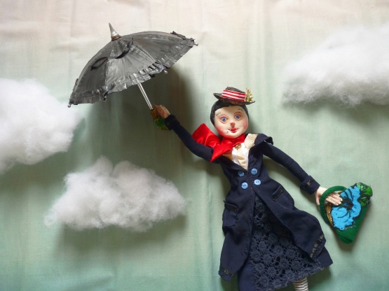 an ooak mary poppins art doll sculpted by the free folk