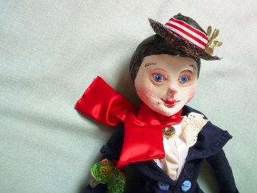 sculpted paperclay doll head for mary poppins
