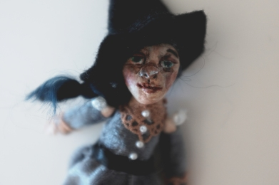 handmade miniature witch doll, one of a kind or ooak