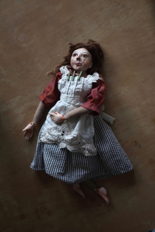 period art doll depicting a Victorian girl servant
