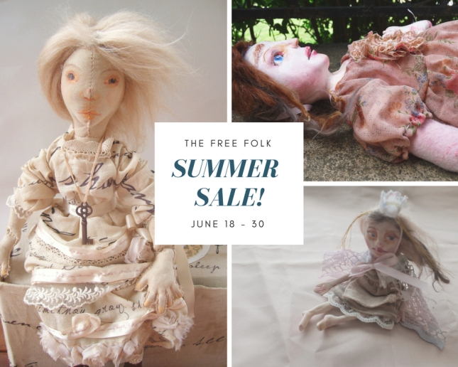summer sale graphic feature art dolls by the free folk