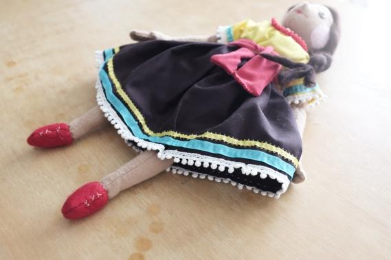 handmade cloth Mexican doll dress